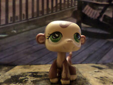 LITTLEST PET SHOP LPS #590 BROWN AND TAN MONKEY GREEN EYES