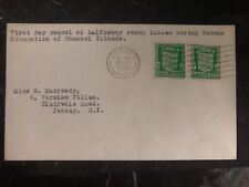 1942 Occupied Jersey Channel Islands First Day Cover Fdc Half Penny Stamps Issue
