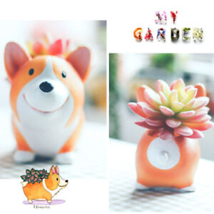 Zakka cute short legs Welsh Corgi DOG garden pots for mini succulent plant