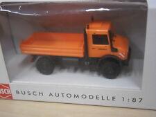 """Busch - Unimog U 5023 - orange - """"Straßenmeisterei"""" - 51010 - 1:87"""