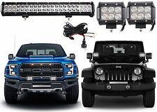 "126w 20"" LED Light Bar & (2) 18w LED Pods Combo Beam Work Off Road New Free Ship"