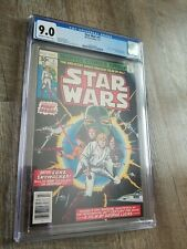 Star Wars #1 CGC 9.0 OW- WP 1977 Marvel 1st print A New Hope part 1-