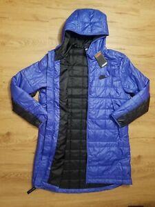 Nike Sportswear Tech Down Fill Long Parka Jacket Quilted CU4416 430 Blue Sz L