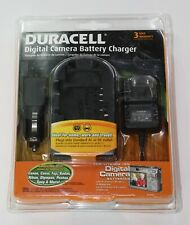 Duracell Digital Camera Battery Charger For Lithium-Ion Canon Casio Nikon Kodak+