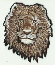 écusson ECUSSON PATCHE PATCH THERMOCOLLANT TETE DE LION 10 X 8 CM HEAD OF LION