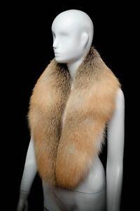 Golden Island Fox Fur Mens Collar Scarf Neck Wrap