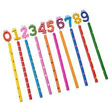 10 pezzi legno sveglio di numero 0-9 matite per i bambini - Modello casual Q0M4