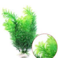 "11"" Ornament Decor Aquarium Underwater Grass Fish Tank Green Plastic Plant Decor"