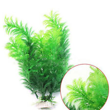 "11"" High Aquarium Underwater Grass Fish Tank Green Plastic Plant Ornament Sale"