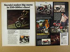 1968 Suzuki 500-Five X6 Hustler & Scrambler II MotoCross T305 Raider vintage Ad