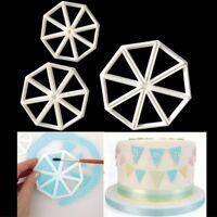 3Pcs Varied Bunting Cutter Icing Fondant Sugarcraft Cake Decorating Mould