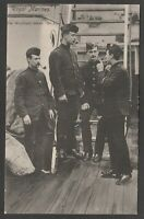 Postcard Royal Marines smoking pipes WW1 military naval
