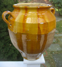 French Ceramic Antique Pottery 13'  Pot A Confit with Drips. Finest on Ebay!