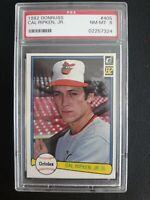 1982 DONRUSS #405 CAL RIPKEN JR. RC HOF Baltimore Orioles Rookie Graded PSA 8