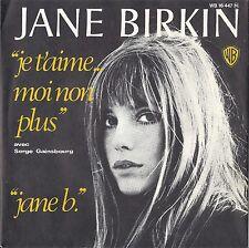 """7"""" JANE BIRKIN - """"JE T'AIME...MOI NON PLUS"""" SUPER UNGESPIELT MINT"""