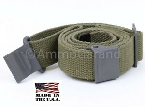 AmmoGarand M1 Garand Web Sling OD Green Cotton for USGI Rifle/Shotguns *US Made*