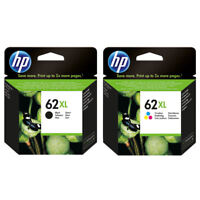 2 PACK NEW HP GENUINE 62XL Black & Tri-Color Ink ENVY 5540 5541 5542