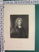 C1850 impression antique ~ Révérend John Howe