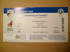 TICKET LIGA- 23 OCTOBER 2010- CARL ZEISS JENA v SV WERDER BREMEN II