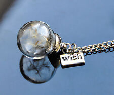 Make a wish pendant necklace real dandelion seeds GENUINE UK SELLER lots variety