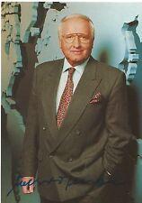 Autogramm AK Werner Veigel (1995+) handsigniert Tagesschau Nachrichtensprecher