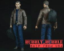 1/6 Jason Bourne Matt Damon Agent Leather Jacket Set For Hot Toys PHICEN Figure
