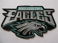 """Philadelphia Eagles Embroidered PATCH~4 1/2"""" x 2 3/4""""~Iron Sew on~NFL~Ships FREE"""