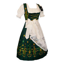 Sz 26 DIRNDL German Long Dress Green Holiday Oktoberfest Waitress Christmas SET
