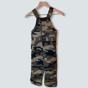 Walls Tough Wear Insulated Camo Hunting Overalls Kids Grow Youth Boys Medium