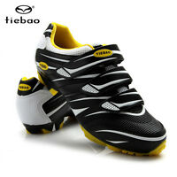Tiebao MTB Cycling Shoes For Shimano SPD System Bike Bicycle Shoes Black White