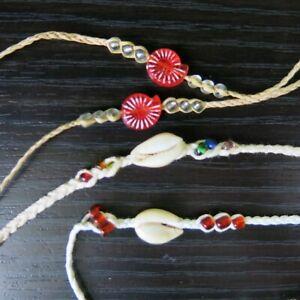 NEW Seashell rope bracelets and shell-inspired woven bracelets