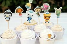 12x Octonauts Cupcake Food Cake TOPPER Party Supplies Lolly Loot Bag Bunting