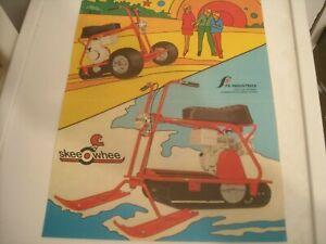 1971 Vintage SKEE WHEE Snowmobile Brochure Mini Bike Motorcycle