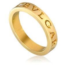 Bvlgari Bvlgari 18K Yellow Gold Diamond Ring Size 8.5