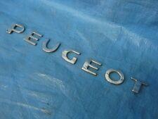 PEUGEOT 206  306  406  307  407  Rear BADGE ' PEUGEOT'