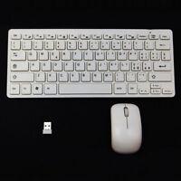 Mini tastiera ITALIANA+mouse+ricevitore wireless smart tv PC BIANCA TVG