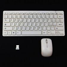 Mini tastiera ITALIANA+mouse+ricevitore wireless computer notebook PC BIANCA TVG