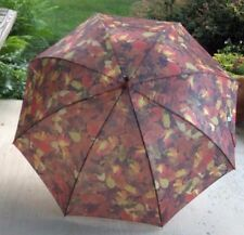 Wonderful Umbrella with Fall Leaves, push button to open, Large, New