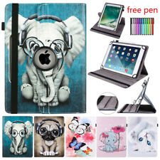"For 10"" Tablet PC Android Universal PU Leather 360 Rotate Folio Case Cover Stand"