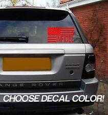 "Infidel Flag 4"" Vinyl Sticker Decal car window bumper usa truck 4x4 freedom guns"