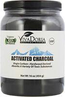 Vivadoria Virgin Activated Charcoal Powder - Food Grade, 1 lb  (16 oz)