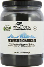 Vivadoria Virgin Activated Charcoal Powder - Food Grade, 1 lb  (16 oz)