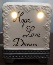 """Better Homes & Gardens Hope Love Dream Wax Warmer Light **NO Plate** 5-1/4"""" Tall"""