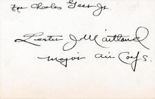 Lester J. Maitland- Signed 1930's Index Card