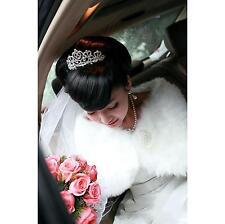 Women Fashion Shrug Wrap Stole Wedding Scarf Bridal White Faux Fur Bride Shawl