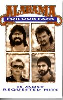 Alabama For Our Fans 1993 Cassette Tape Album Classic Country Folk Rock Soft
