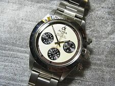 Alpha Daytona Paul Newman Glossy Bezel 3-Registered Chronograph Watch