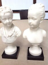 """10"""" d'Apres HOUDON BUSTS BRONGNIART CHILDREN MADE IN FRANCE Signed"""