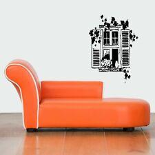 Wall Vinyl Sticker Decals Mural Design Cute Garden 3D Window With Shutters #739
