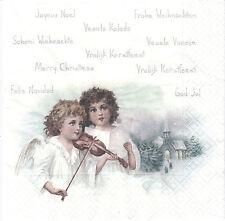 2 Serviettes en papier Anges Musique Sagen Vintage Paper Napkins Musician Angels
